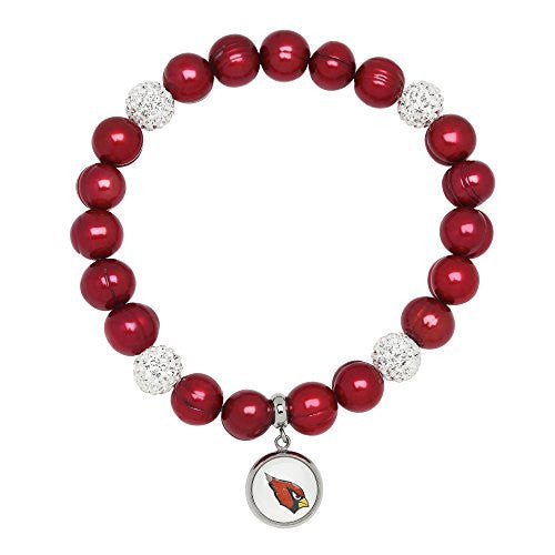 Honora Licensed NFL Arizona Cardinals freshwater cultured pearl & crystal bracelet NFB7938AC75