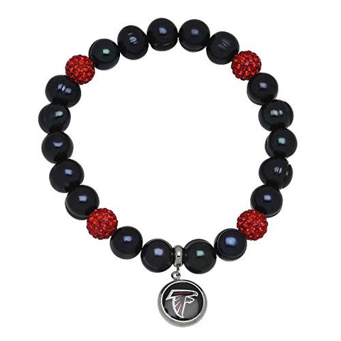 Honora Licensed NFL Atlanta Falcons freshwater cultured pearl & crystal bracelet NFB7938AF75