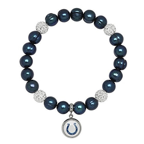 Honora Licensed NFL Indianapolis Colts freshwater cultured pearl & crystal bracelet NFB7938IC75