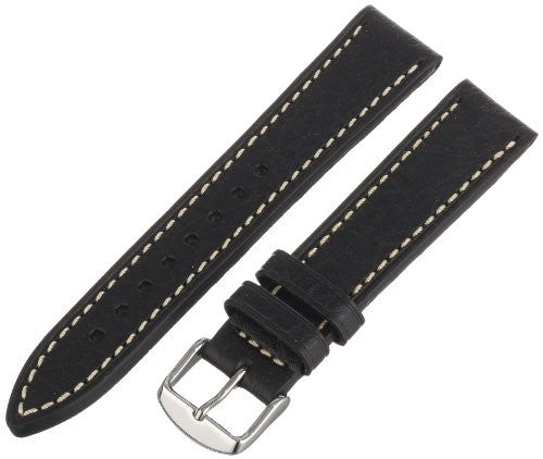Hadley-Roma Men's MSM894RA-200 20-mm Black Genuine Leather Watch Strap