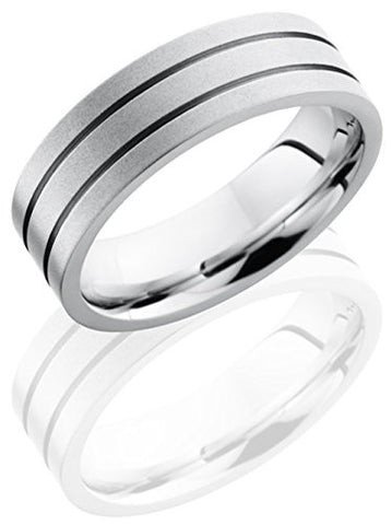 Lashbrook CC7F2.5 Lined Satin Finish Wedding Band - Cobalt Chrome