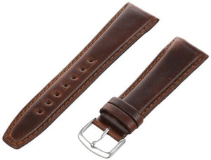 MS881 - 22 mm - Brown Genuine Oil Tan Leather Strap by Hadley Roma