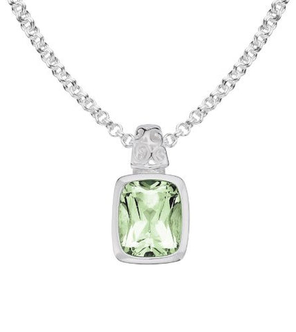 Colore Sterling Silver Green Amethyst Pendant LVP420-GA
