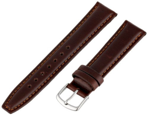 MS881 - 18 mm - Brown Genuine Oil Tan Leather Strap by Hadley Roma