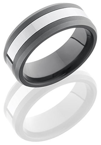 Lashbrook TCR8335 Sandblast & Polished Finish Wedding Band - Tungsten/Ceramic