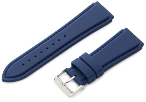 MS3346- 24 mm - Blue Genuine Silicone Diver Sport Strap by Hadley Roma