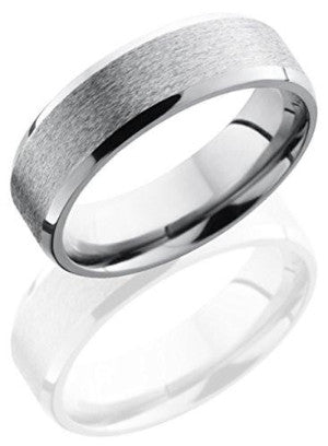 Lashbrook 6B Stone & High Polish Finish Wedding Band - Titanium