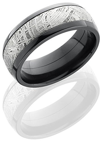 Lashbrook Z8D15/METEORITE Meteorite Inlay Wedding Band - Zirconium
