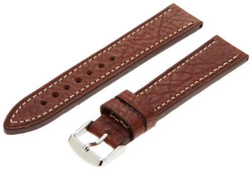 MS894 - 20 mm - Brown Shrunken Grain Leather Strap by Hadley Roma