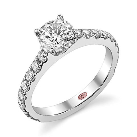 Demarco Love Story Collection DW4833 18 Kt White Gold Ring w/ 0.69 Carats of Round Brilliant Cut Diamonds