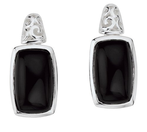 Colore Sterling Silver Onyx Post Earrings LVE415-NX