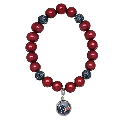 Honora Licensed NFL Houston Texans freshwater cultured pearl & crystal bracelet NFB7938HT75