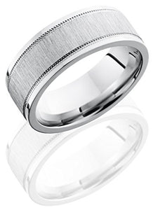 Lashbrook CC8FEC2WUMIL Cross Satin Finish Wedding Band - Cobalt Chrome