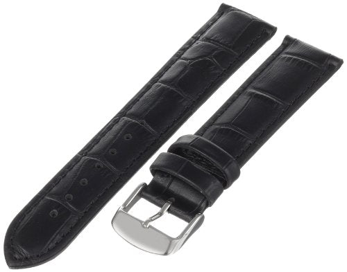 MS898 - 20 mm - Black Alligoator Grain Genuine Leather Strap by Hadley Roma