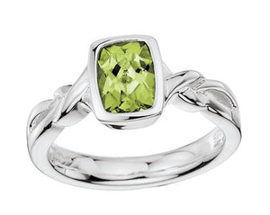 Colore Sterling Silver Peridot Ring LVR419-PE