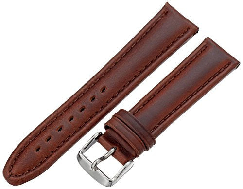 MS881 - 20 mm - Brown Genuine Oil Tan Leather Strap by Hadley Roma