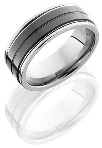 Lashbrook TCR8422 Satin Finish Wedding Band - Tungsten/Ceramic