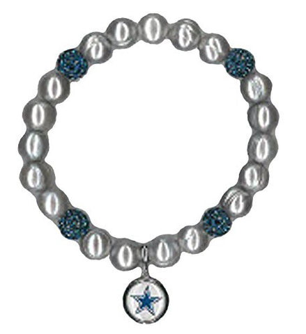 Honora Licensed NFL Dallas Cowboys freshwater cultured pearl & crystal bracelet NFB7938DC75