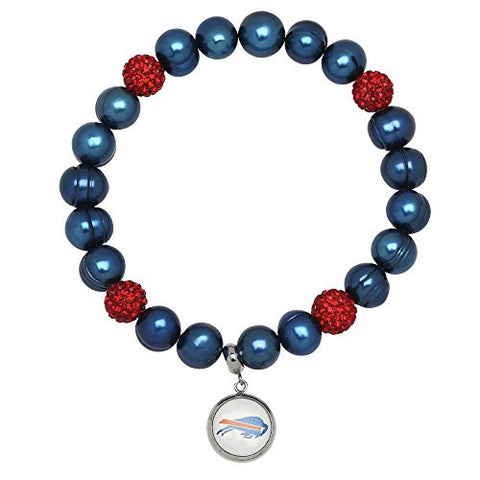 Honora Licensed NFL Buffalo Bills freshwater cultured pearl & crystal bracelet NFB7938BB75