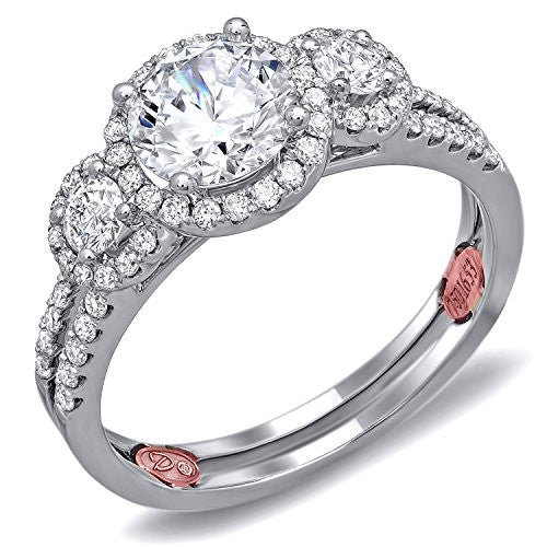 Demarco Eternal Devotion Collection DW6024 18 Kt White Gold Ring w/ 0.52 Carats of Diamonds