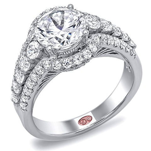 Demarco Love Story Collection DW5244 18 Kt White Gold Ring w/ 0.93 Carats of Round Brilliant Cut Diamonds