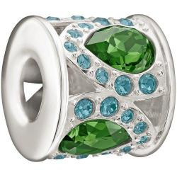 Royal Petals Charm, Green & Blue - 2083-0453