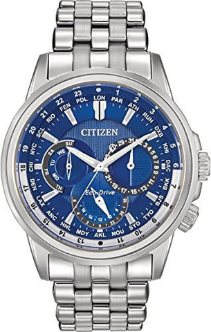 Citizen Men's BU2021-51L Calendrier Analog Display Japanese Quartz Silver Watch