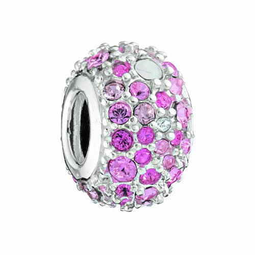 Jeweled Kaleidoscope Charm, Pink - 2025-0560