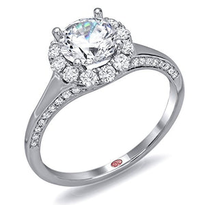 Demarco Eternal Devotion Collection DW6104 18 Kt White Gold Ring w/ 0.36 Carats of Diamonds
