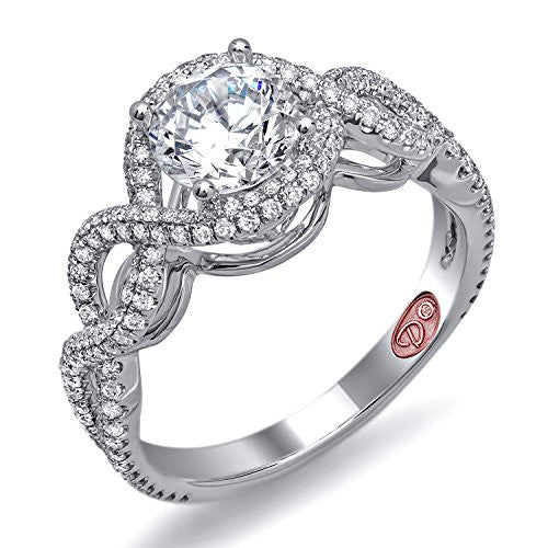 Demarco Love Token Collection DW5717 18 Kt White Gold Ring w/ 0.58 Carats of Round Brilliant Cut Diamonds