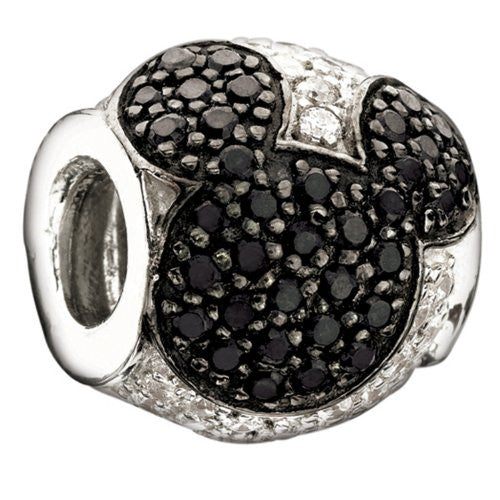 Jeweled Mickey Charm, Black - 2025-0677