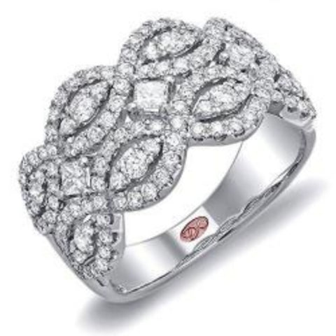 Demarco DL3688 18 Karat White Gold Ring with 1.18 Total Carat Weight of Round Brilliant Cut Diamonds