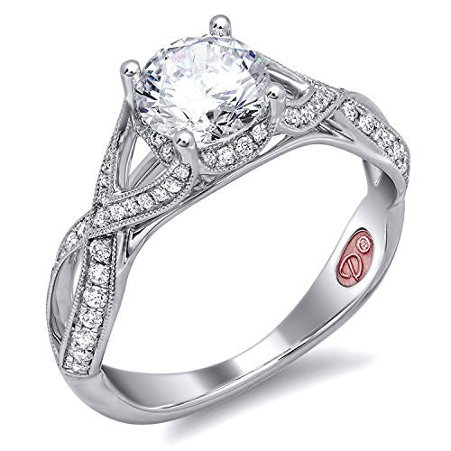 Demarco Love Token Collection DW6141 18 Kt White Gold Ring w/ 0.34 Carats of Round Brilliant Cut Diamonds