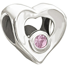 Load image into Gallery viewer, Jeweled Heart, Pink - 2025-0676
