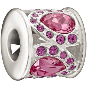 Royal Petals Charm, Pink & Purple - 2083-0452