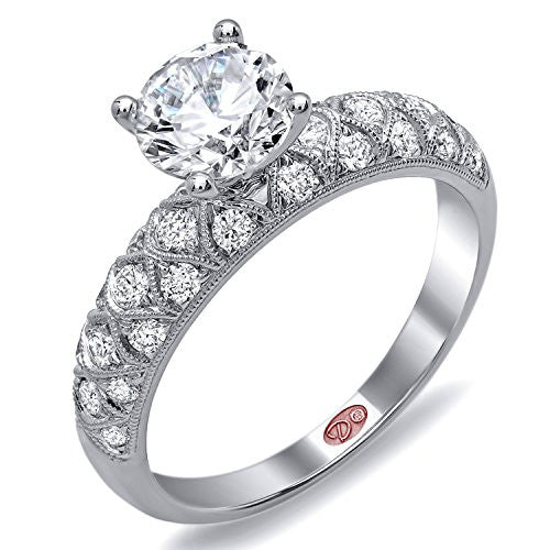 Demarco Love Story Collection DW6115 18 Kt White Gold Ring w/ 0.46 Carats of Round Brilliant Cut Diamonds