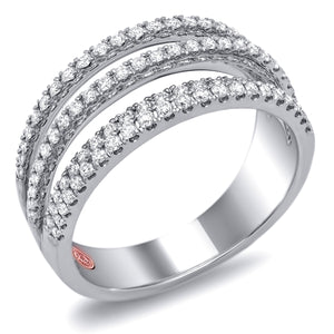 Demarco DL3974 18 Karat White Gold Ring with 0.59 Total Carat Weight of Round Brilliant Cut Diamonds