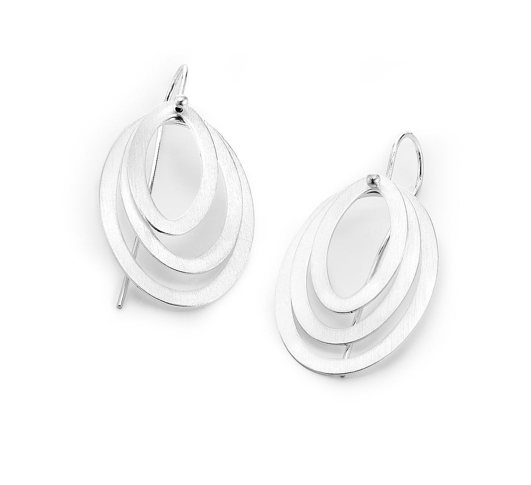 Layered Oval Earrings