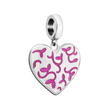 Floral Engraved Heart Charm - 2020-0999