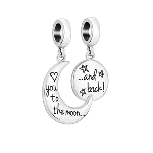 To The Moon And Back Charm - 2025-2449