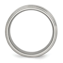 Load image into Gallery viewer, Stainless Steel 8 mm Double Step Down Brushed & Polished Ring