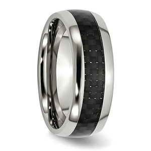 Stainless Steel & Black Carbon Fiber Ring