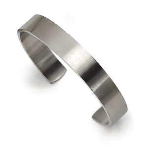 Stainless Steel Brushed Finish Cuff Bracelet