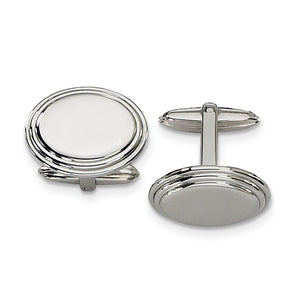 Stainless Steel Oval Cuff Links
