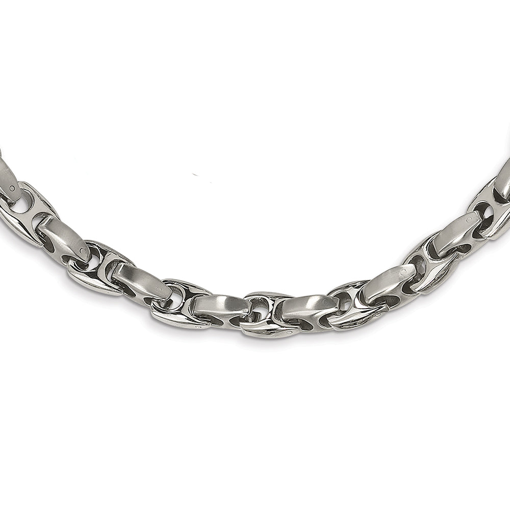Stainless Steel Brushed & Polished Necklace