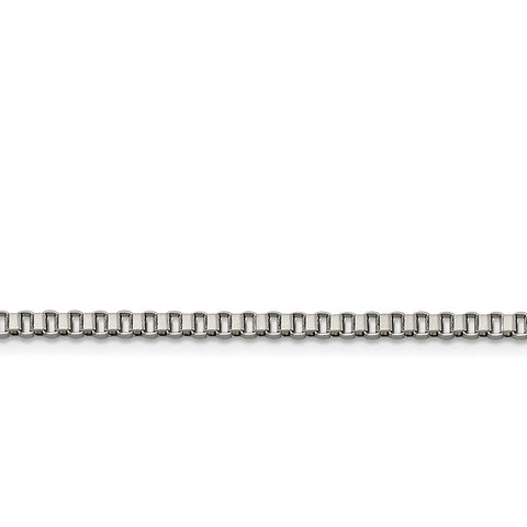 Stainless Steel 3.2mm 24 inch Box Chain