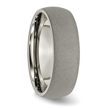 Load image into Gallery viewer, Titanium Stone Finish 7 mm Ring
