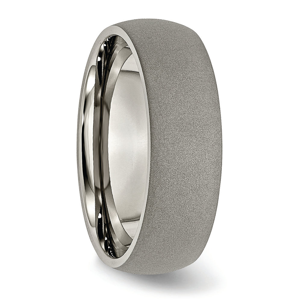 Titanium Stone Finish 7 mm Ring
