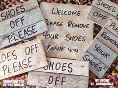 shoes off signs or please remove shoes sign ideas