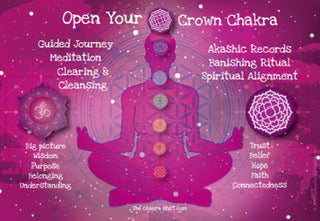 Crown Chakra for purpose wisdom trust belief belonging seeing big picture
